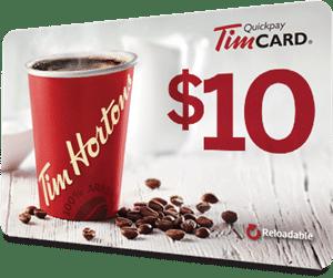 Tim Hortons $10 Gift Card